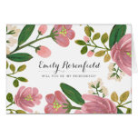 Blush Bouquet Wedding Party Card