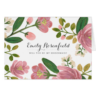 Blush Bouquet Wedding Party Card