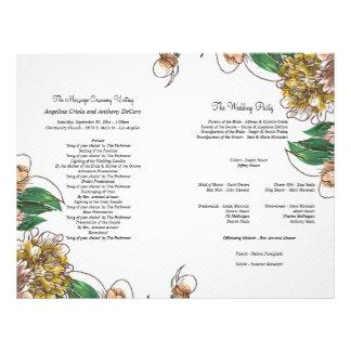 Blush Floral Formal Wedding Program 21.5 Cm X 28 Cm Flyer