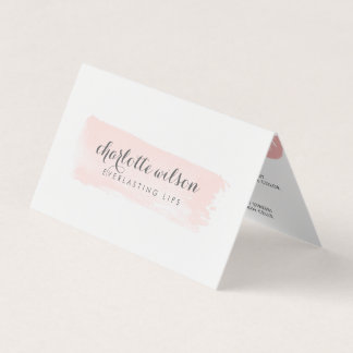 Blush & Gray Lip Product Distributor Tips & Tricks Business Card