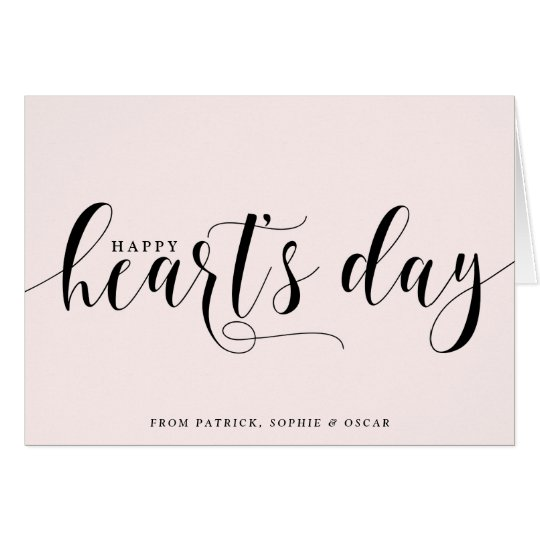 Blush Happy Heart's Day Script | Valentine's Day Card