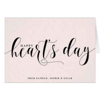 Blush Happy Heart's Day Script | Valentine's Day Greeting Card