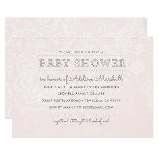 Blush & Lace Baby Shower Invitation