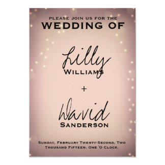 Blush Light - Wedding Customizable Invitation
