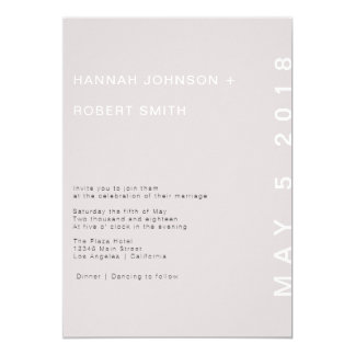 Blush Modern Wedding Invitation