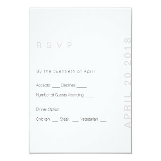 Blush Modern Wedding  RSVP Card