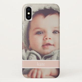 Blush Overlay | Personalized Photo iPhone X Case