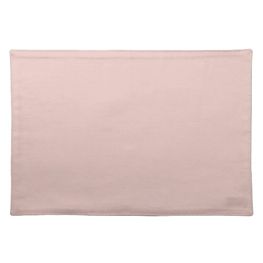 Blush Peachy Light Pink Solid Colour Background Placemat