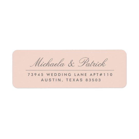 Blush Pink and Charcoal Grey Address Labels