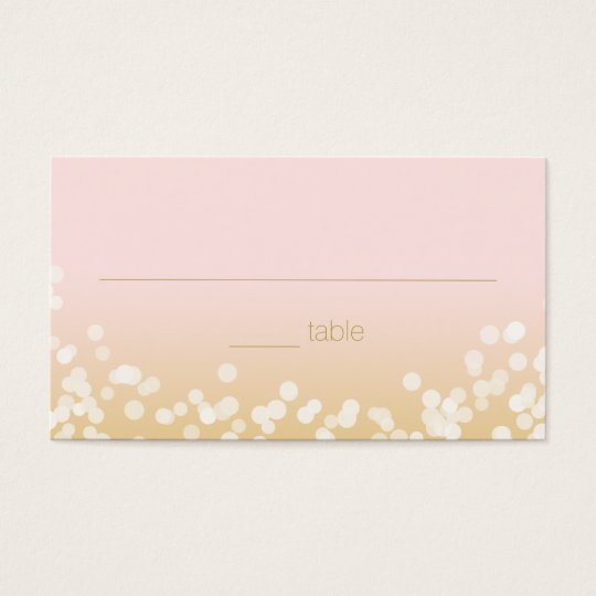 Blush Pink and Gold Twinkle Lights Seating Business