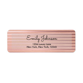 Blush Pink and Rose Gold Foil with Stripes