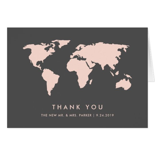 Blush Pink and Smoky Grey | World Map