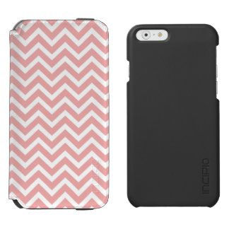 Blush Pink and White Chevron Zig Zag Incipio Watson™ iPhone 6 Wallet Case