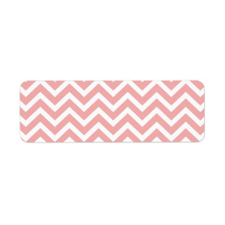 Blush Pink and White Chevron Zig Zag Return Address Label