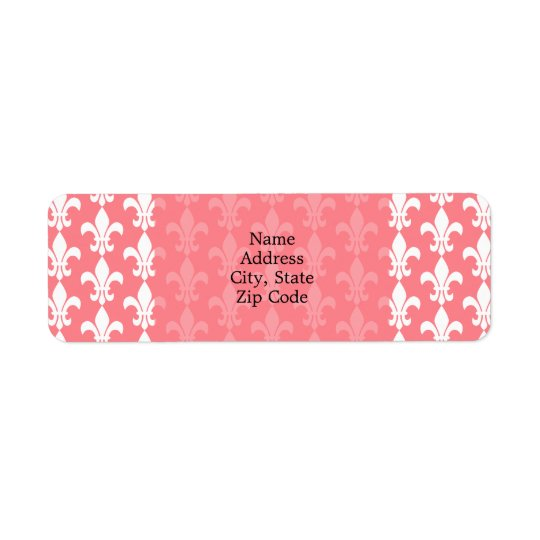 Blush Pink and White Fleur de Lis Pattern