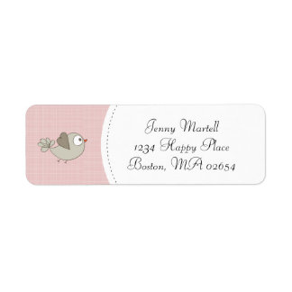 Blush Pink Baby Bird | Address
