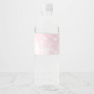 Blush Pink Bokeh Water Bottle Labels