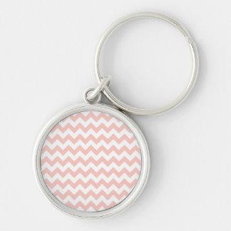 Blush Pink Chevron Key Chain