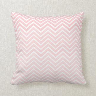 Blush Pink Chevron Pillow Ombré Square Cushions