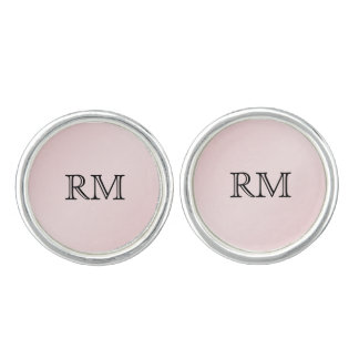 Blush Pink Elegance Wedding Cuff Links
