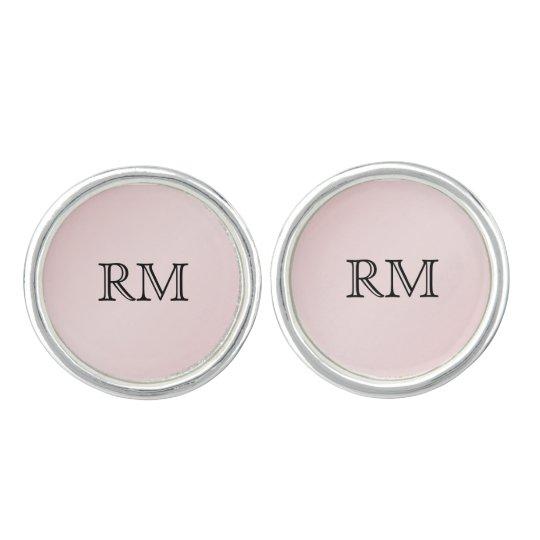 Blush Pink Elegance Wedding Cuff Links