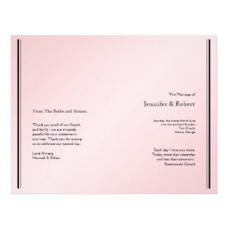 Blush Pink Elegance Wedding Program Full Color Flyer