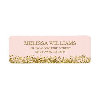 Blush Pink Faux Gold Glitter