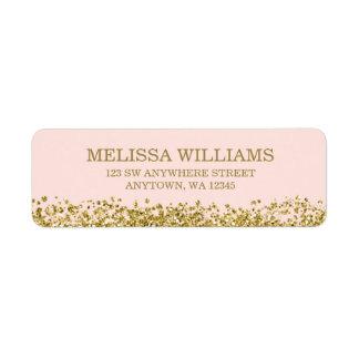Blush Pink Faux Gold Glitter