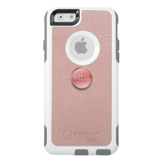 Blush Pink Faux Leather 3D Monogram OtterBox iPhone 6/6s Case