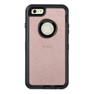 Blush Pink Faux Leather Effect iPhone 6s Plus