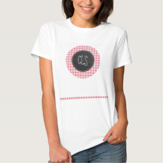 Blush Pink Gingham; Chalkboard look T Shirts