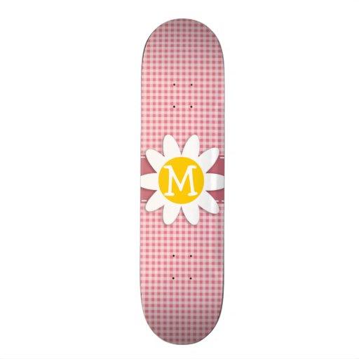 Blush Pink Gingham; Daisy Skate Decks
