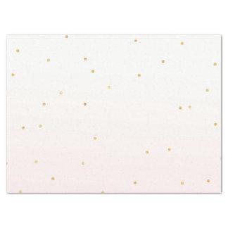 Blush Pink Gold Confetti Sparkle Ombre Tissue Paper
