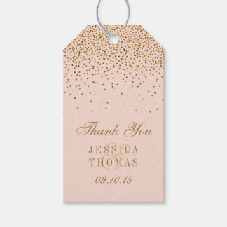Blush Pink & Gold Confetti Wedding