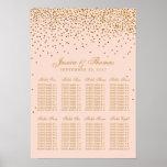 Blush Pink & Gold Confetti Wedding Seating Chart