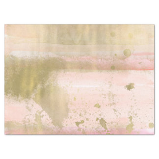 Blush Pink Gold Glam Watercolor Hello Beautiful Tissue Paper