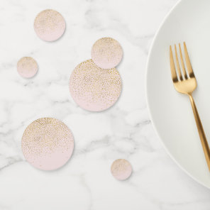 Blush Pink & Gold Modern Elegant Glam Party Confetti