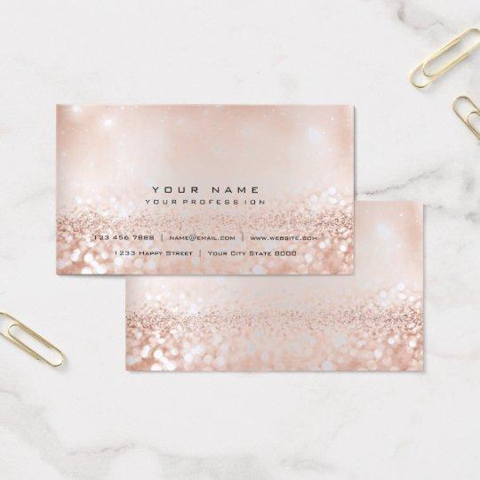 Blush Pink Gold Silver Gray Glitter Foxier Beauty