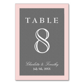 Blush Pink & Gray Elegant Card