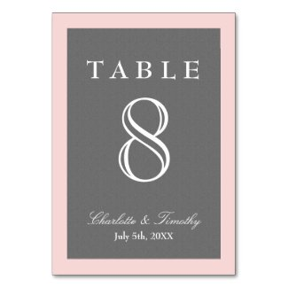 Blush Pink & Grey Elegant Card