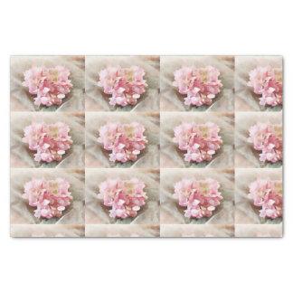 Blush Pink Heart Hydrangea Tiles for decoupage Tissue Paper