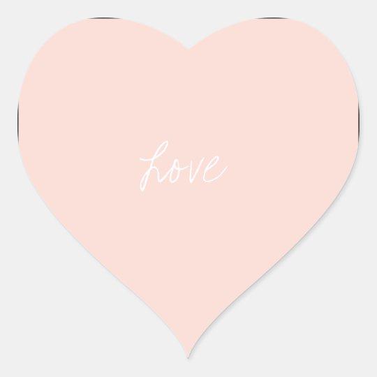 Blush Pink Heart Stickers