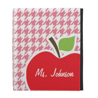 Blush Pink Houndstooth Apple iPad Folio Covers
