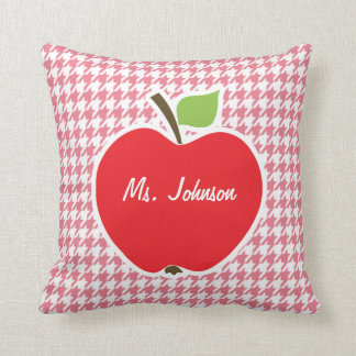 Blush Pink Houndstooth Apple Pillows