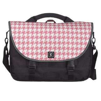 Blush Pink Houndstooth Laptop Commuter Bag