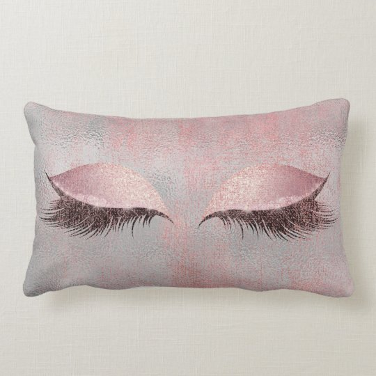 Blush Pink Lashes Glass Glitter Silver Gray Makeup