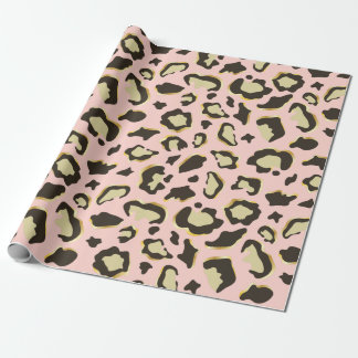 Blush Pink Leopard Spots Pattern Wrapping Paper