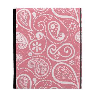 Blush Pink Paisley; Floral iPad Folio Case