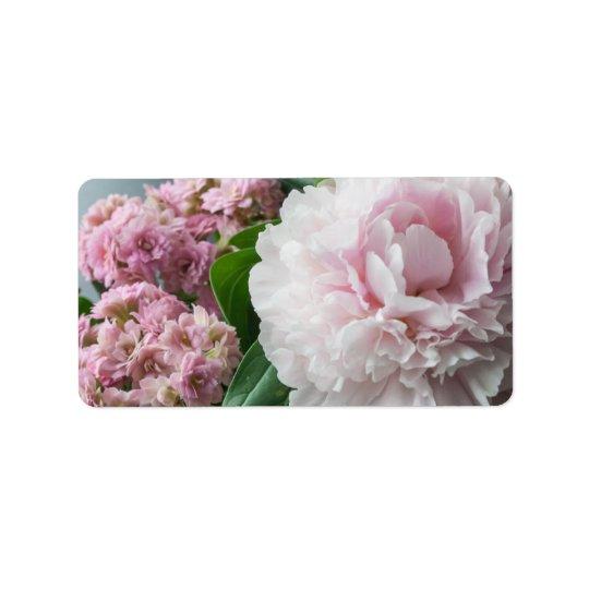Blush Pink Peonies Address Label