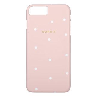 Blush Pink Polka Dots iPhone 7 Plus Case